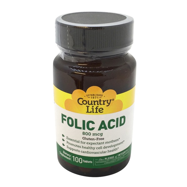 Country Life Folic Acid 800 Mcg