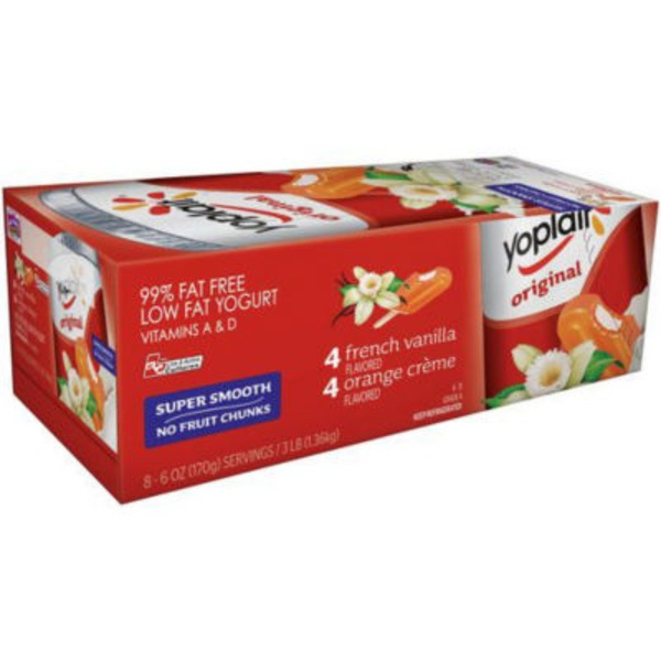 Yoplait Original Orange Creme/French Vanilla Variety Pack Low Fat Yogurt