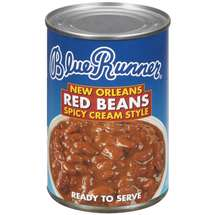 Blue Runner New Orleans Spicy Cream Style Red Beans