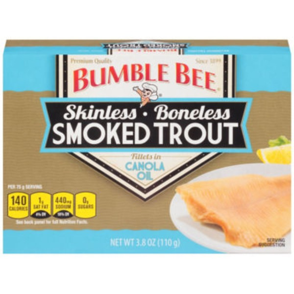 Bumble Bee Smoked Skinless & Boneless Fillets in Canola Oil Trout