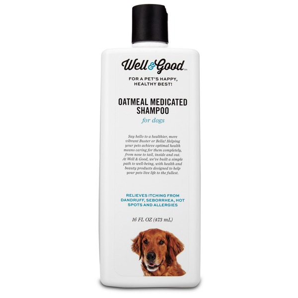 Well & Good Oatmeal Medicated Shampoo for Dogs