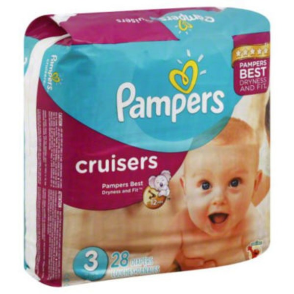 Pampers Cruisers Pampers Cruisers Diapers Size 3 28 count Diapers