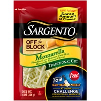 Sargento® Off The Block Mozzarella Traditional Cut Shredded Cheese