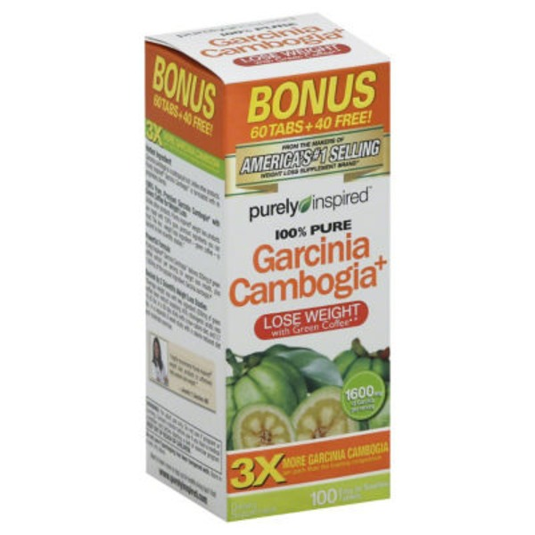 Purely Inspired 100% Pure Garcinia Cambogia+ - 100 CT