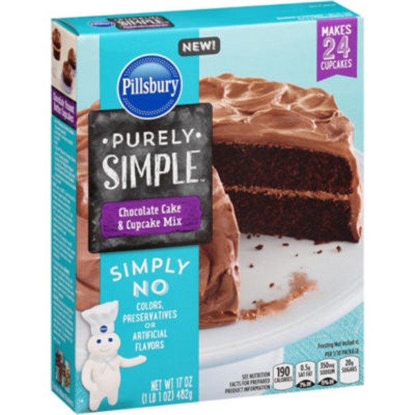 Pillsbury Pillsbury Purely Simple Chocolate Cake and Cupcake Mix