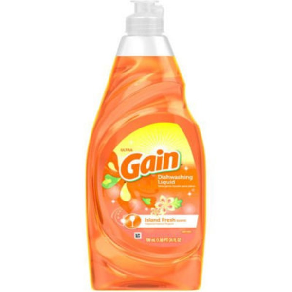 Gain Ultra Gain Dish Liquid Soap, Island Fresh, 24 Fl Oz Dish Care