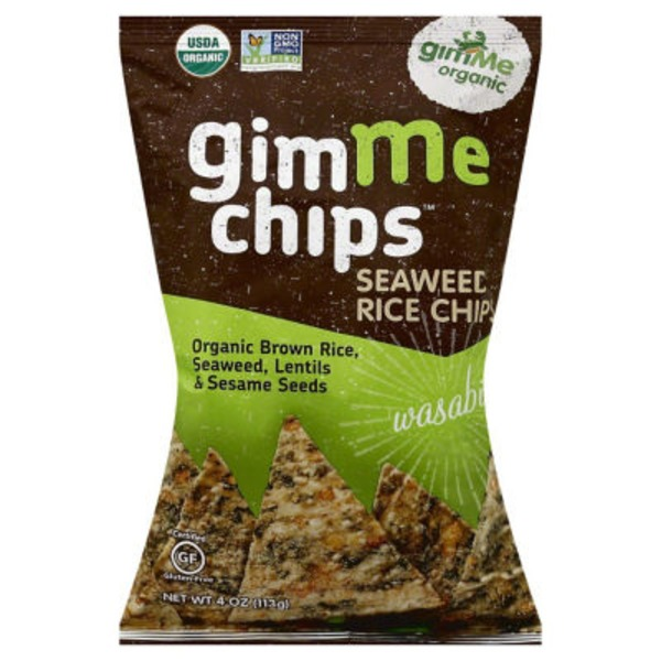 gimMe Organic Seaweed Chips with Brown Rice Wasabi