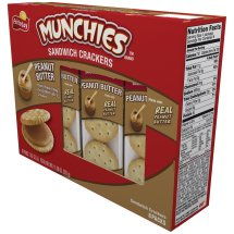 Munchies Peanut Butter Sandwich Crackers, 8 Packs