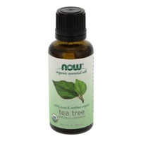 Now Organic Essential Oils, Pure, Tea Tree, Bottle