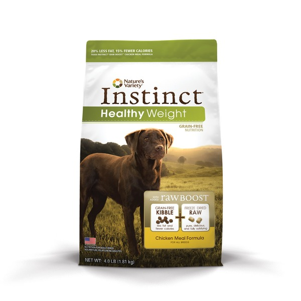 Nature's Variety Instinct Healthy Weight Grain Free Chicken Meal Dog Food 4 Lbs.