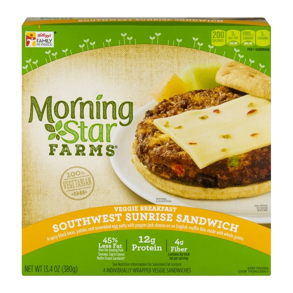 Morning Star Farms Southwest Sunrise Veggie Breakfast Sandwiches