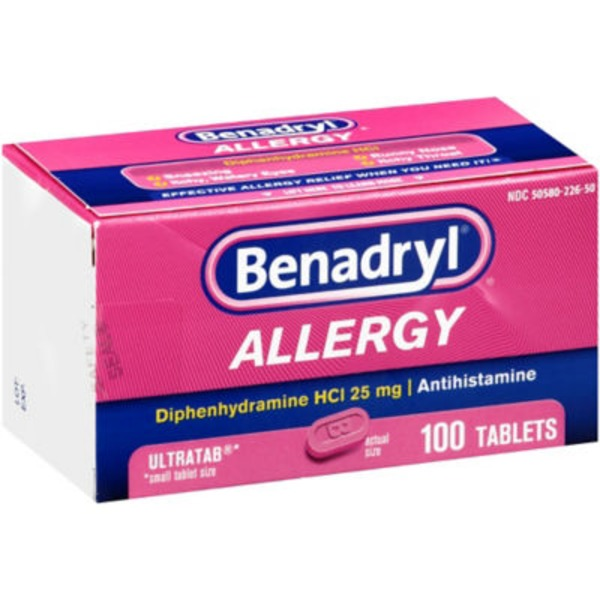 Benadryl® Allergy, 25 mg, Ultratab Tablets