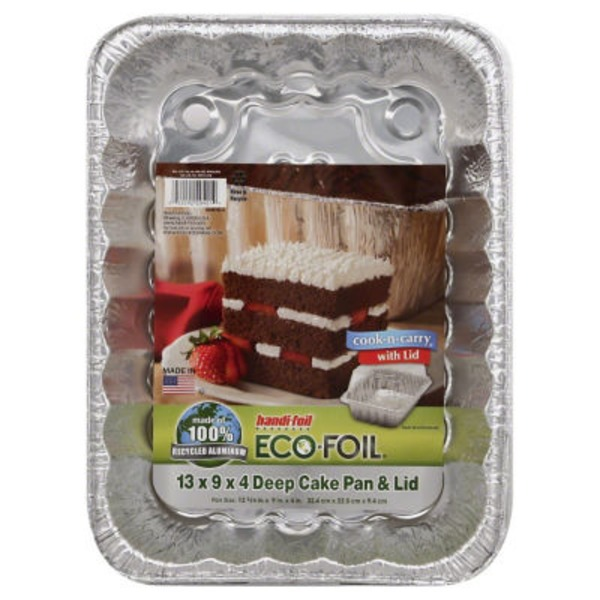 Handi-Foil Pan, Foil, Cake with Lid, Deep, Wrapper