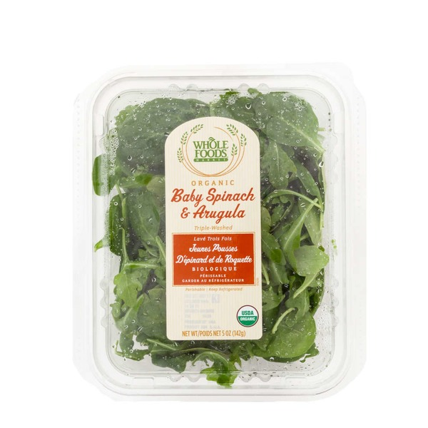 Whole Foods Market Organic Baby Spinach & Arugula