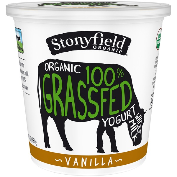 Stonyfield Organic Organic 100% Grassfed Vanilla Whole Milk Yogurt
