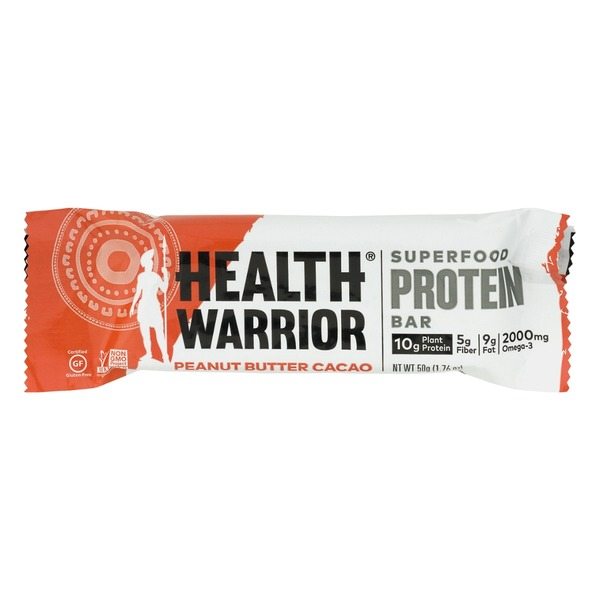Health Warrior Superfood Protein Bar Peanut Butter Cacao
