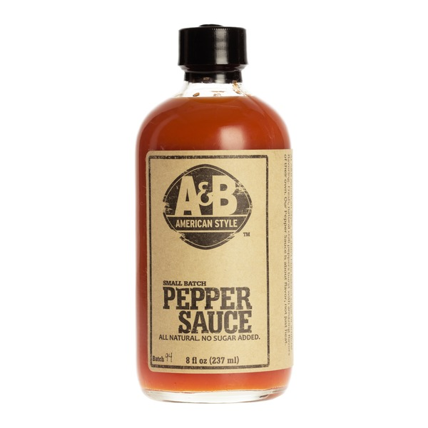 A & B American Style Pepper Sauce, Small Batch
