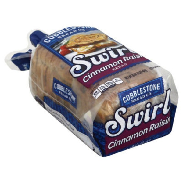 Cobblestone Mill Cinnamon Raisin Swirl Bread