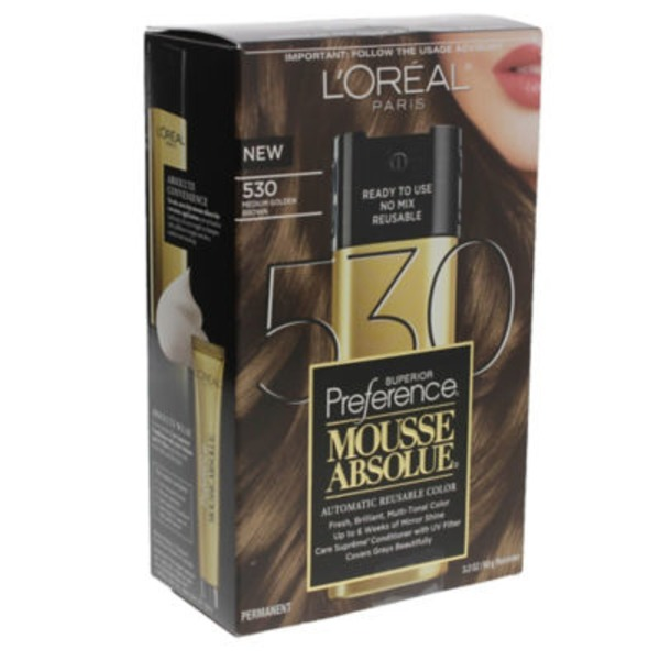 Superior Preference Mousse Absolue 530 Medium Golden Brown Hair Color