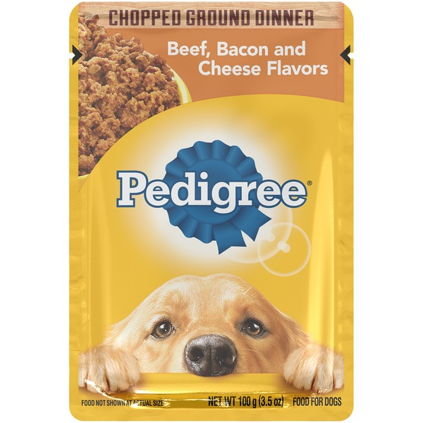 Pedigree Chopped Ground Dinner Beef and Bacon, Cheese Flavor Dog Food