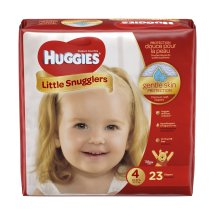 HUGGIES Little Snugglers Diapers, Size 4, 23 Diapers