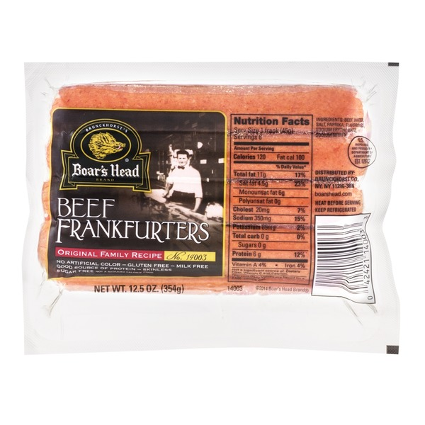 Boar's Head Beef Frankfurters Original Family Recipe