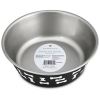 Harmony Black Bone Stainless Steel Dog Bowl Small