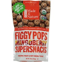 Made in Nature Figgy Pops Organic Mangoberry  Super Snacks Organic Fruit & Nut Energy Snack