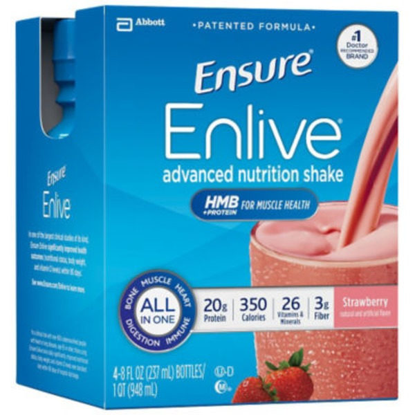 Ensure Enlive Strawberry Nutrition Shake