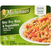 Michelina's® Authentico® Stir Fry Rice & Vegetables with White Chicken 8 oz. Tray