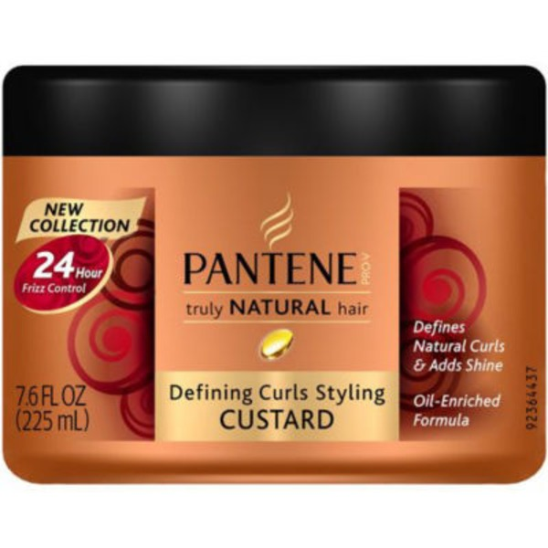 Pantene Curls Custard Pantene Pro-V Truly Natural Hair Defining Curls Styling Custard 7.6 Fl Oz Female Hair Care