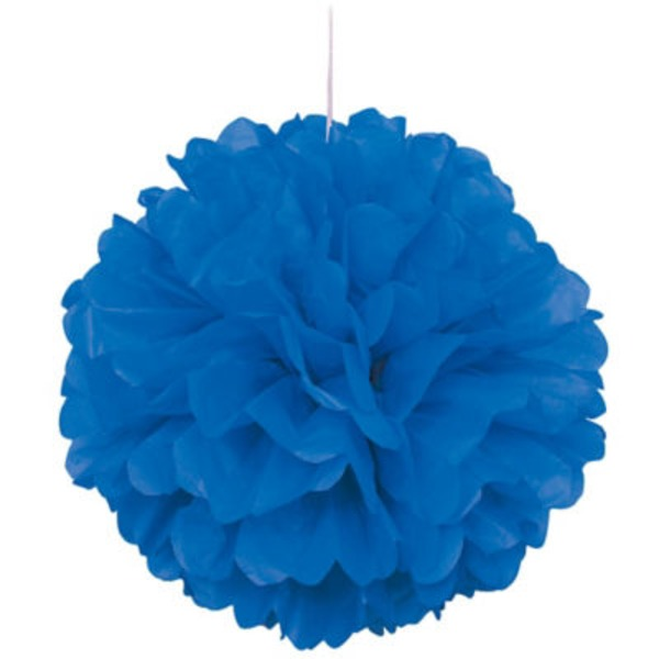 Unique 16 Inch Royal Blue Puff Decor