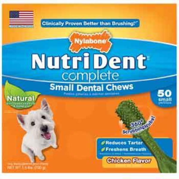 Nylabone NutriDent Complete Small Chicken Flavor Dog Dental Chews
