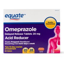 Equate Acid Reducer Omeprazole Delayed Release Tablets, 20 mg, 28 Ct