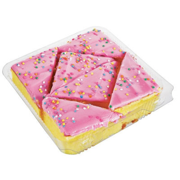 H-E-B Yellow Cake With Pink Icing And Sprinkles