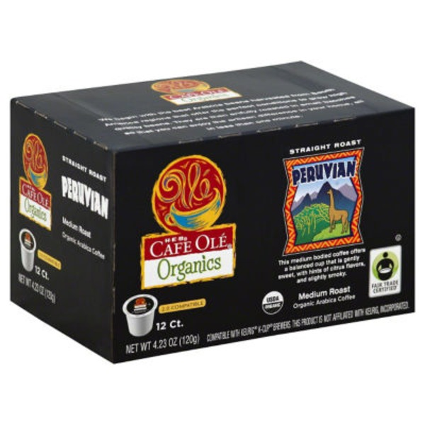 H-E-B Cafe Ole Organics Peruvian Single Serve Coffee Cups