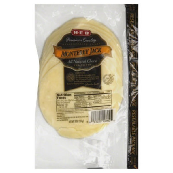 H-E-B Sliced Monterey Jack Cheese