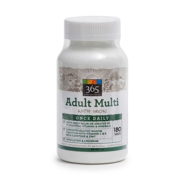 365 Adult Multi Vitamin With Iron