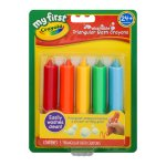My First Crayola Washable Triangular Bath Crayons, 5 Count