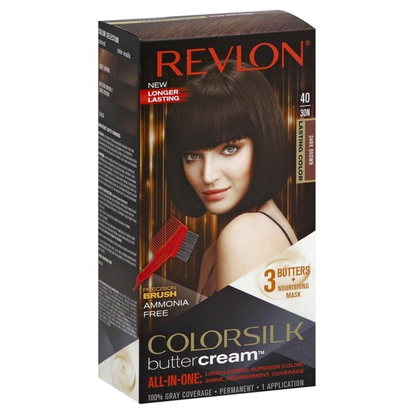 Colorsilk Permanent Hair Color, Dark Brown 40/30N