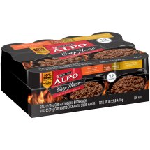Purina ALPO Chop House Filet Mignon & Bacon and Roasted Chicken & Top Sirloin Flavors Savory Juices Variety Pack Wet Dog Food, 13.2 Oz. (Case of 12)