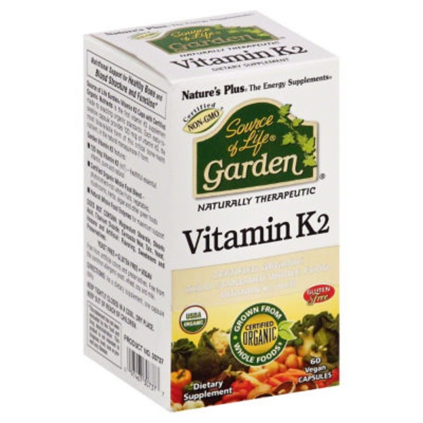 Nature's Plus Source Of Life Garden Vitamin K2 capsules