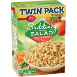 Betty Crocker Suddenly Salad, Ranch and Bacon Pasta Salad Dry Meals, Twin Pack, 15 Oz Box, 15.0 OZ