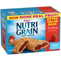 Kellogg's Nutri-Grain Soft Baked Strawberry Breakfast Bar Extra Value Pack, 1.3 oz, 24 count
