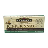Crown Prince Kipper Snacks, with Cracked Black Pepper