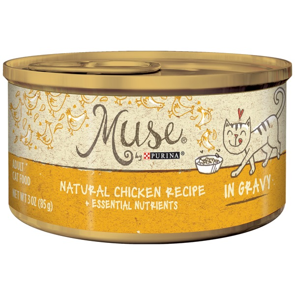 Purina Muse Cat 3 Oz Chicken In Gravy