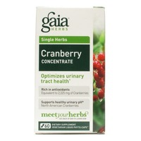 Gaia Herbs Cranberry Concentrate, Vegetarian Liquid Phyto-Caps