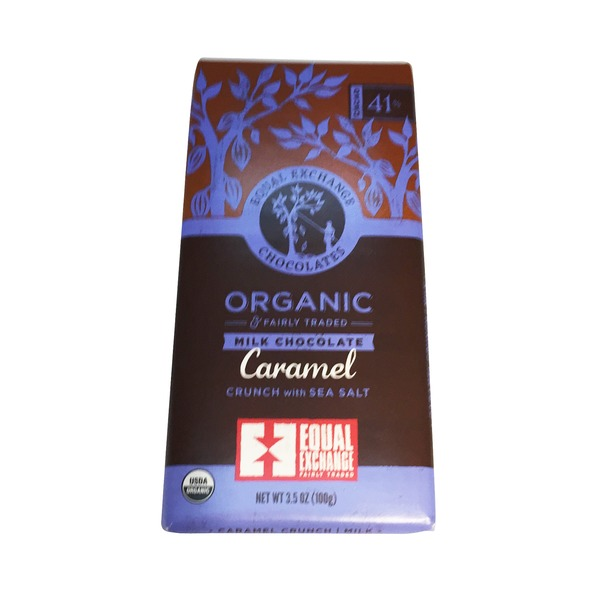 Equal Exchange 41% Cacao Caramel With Sea Salt Milk Chocolate