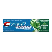Crest Complete Whitening Expressions Herbal Mint Flavor Toothpaste, 6 oz