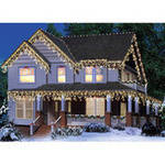 Holiday Time Icicle Christmas Lights Green Wire Clear
